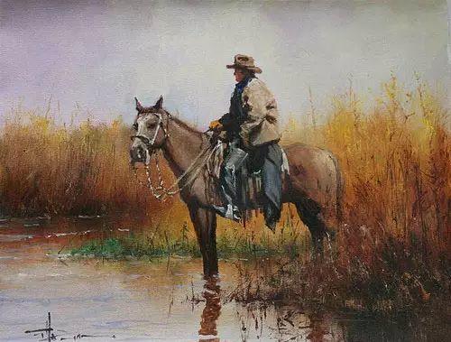 奔放的牛仔:罗伯特 黑根 的澳大利亚风情油画插图13