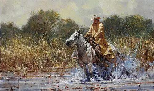 奔放的牛仔:罗伯特 黑根 的澳大利亚风情油画插图15