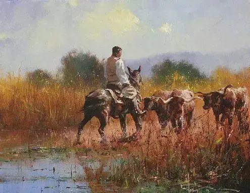 奔放的牛仔:罗伯特 黑根 的澳大利亚风情油画插图17