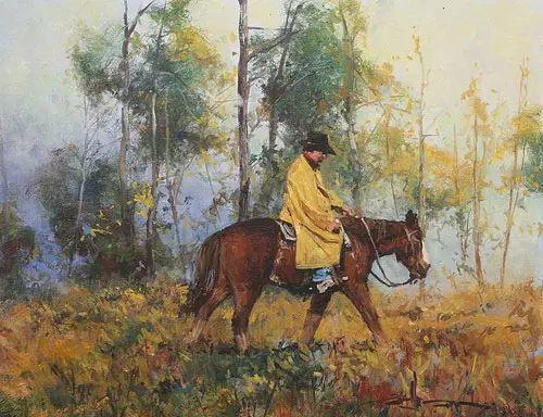 奔放的牛仔:罗伯特 黑根 的澳大利亚风情油画插图19