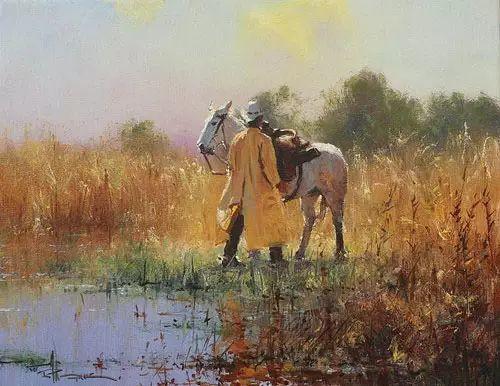 奔放的牛仔:罗伯特 黑根 的澳大利亚风情油画插图21
