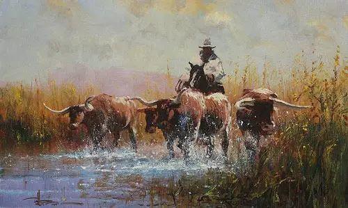 奔放的牛仔:罗伯特 黑根 的澳大利亚风情油画插图23