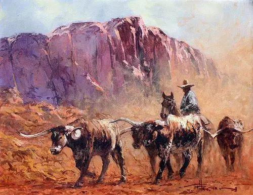 奔放的牛仔:罗伯特 黑根 的澳大利亚风情油画插图25