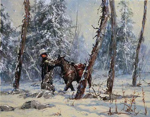 奔放的牛仔:罗伯特 黑根 的澳大利亚风情油画插图27