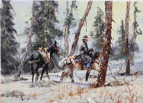 奔放的牛仔:罗伯特 黑根 的澳大利亚风情油画插图29