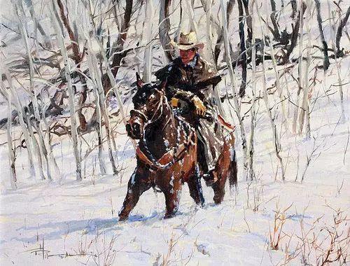 奔放的牛仔:罗伯特 黑根 的澳大利亚风情油画插图31