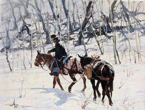 奔放的牛仔:罗伯特 黑根 的澳大利亚风情油画插图33