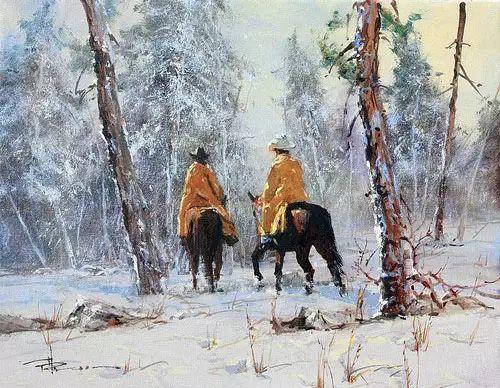 奔放的牛仔:罗伯特 黑根 的澳大利亚风情油画插图35
