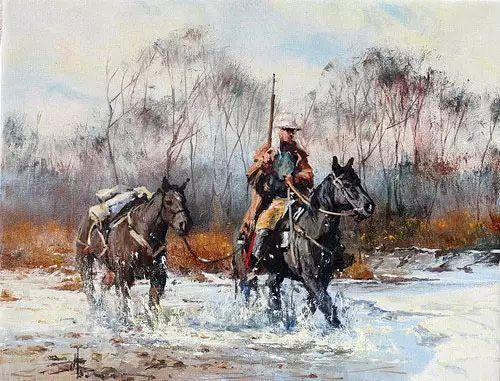 奔放的牛仔:罗伯特 黑根 的澳大利亚风情油画插图37