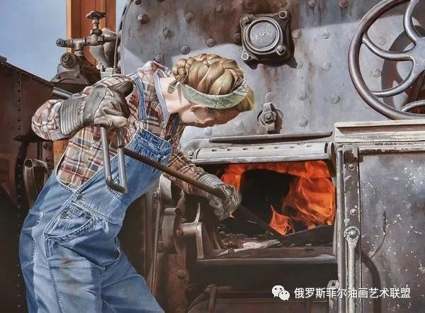 美国画家   李·奥尔本主题系列油画作品赏析插图25