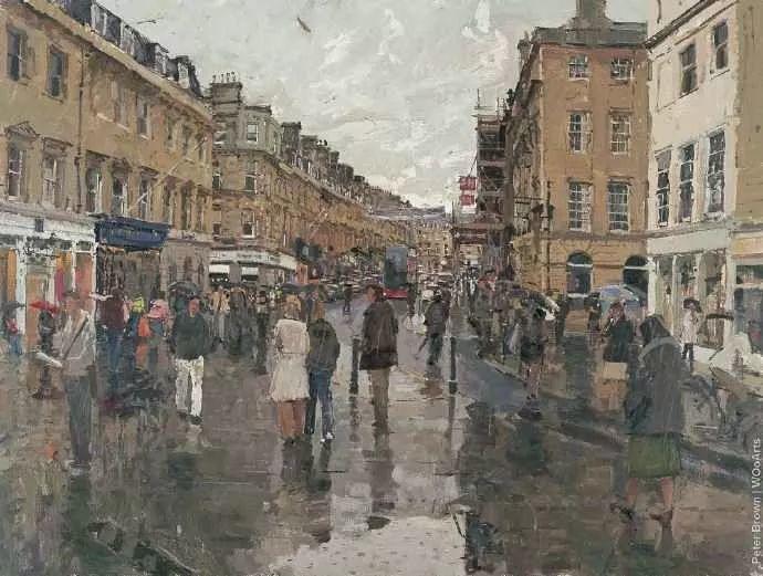 Peter.Brown 油画欧洲街景插图2