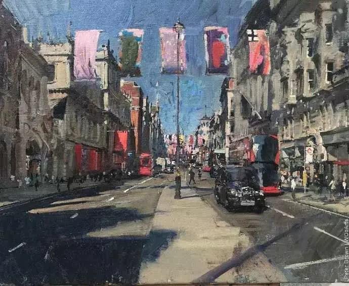 Peter.Brown 油画欧洲街景插图3