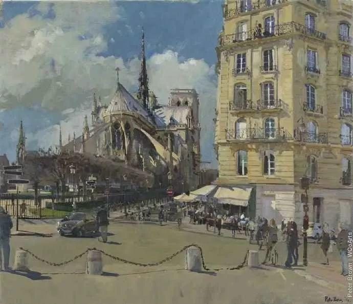 Peter.Brown 油画欧洲街景插图4