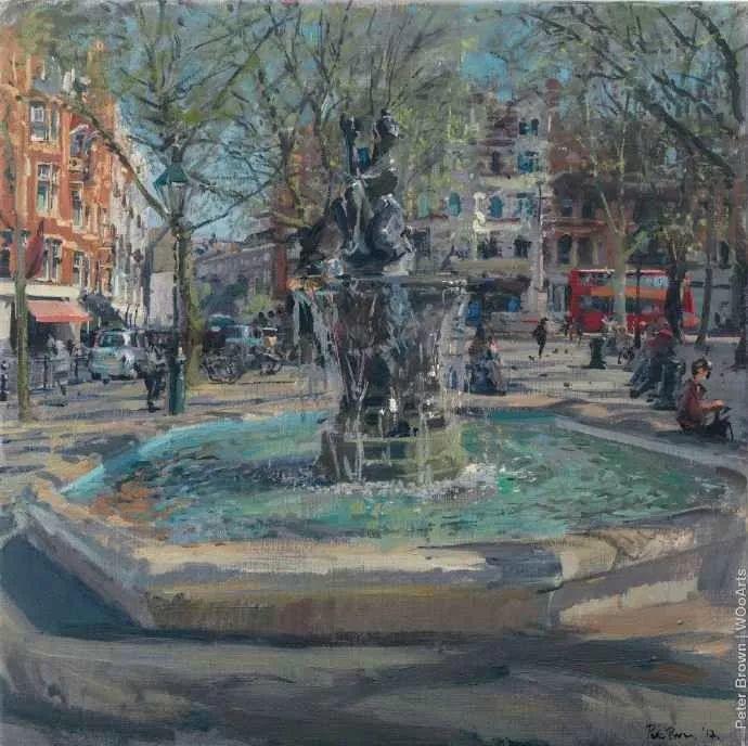 Peter.Brown 油画欧洲街景插图5