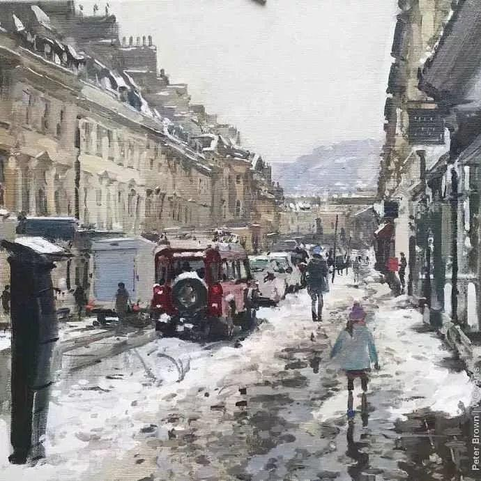 Peter.Brown 油画欧洲街景插图6