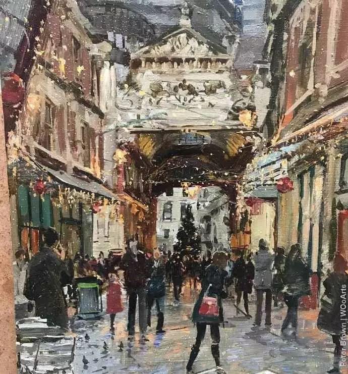 Peter.Brown 油画欧洲街景插图7