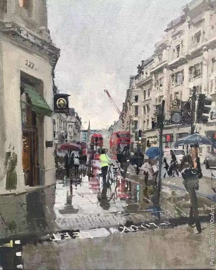 Peter.Brown 油画欧洲街景插图8