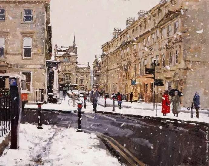 Peter.Brown 油画欧洲街景插图9