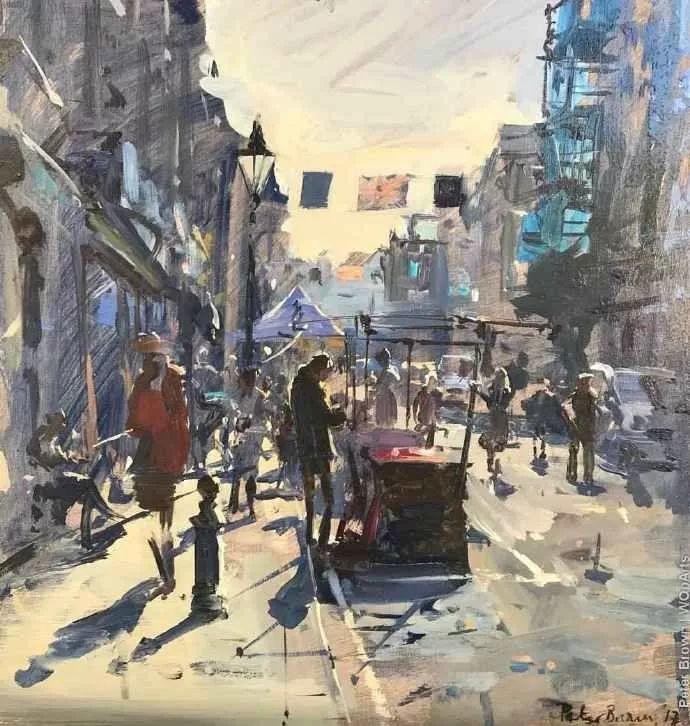 Peter.Brown 油画欧洲街景插图11