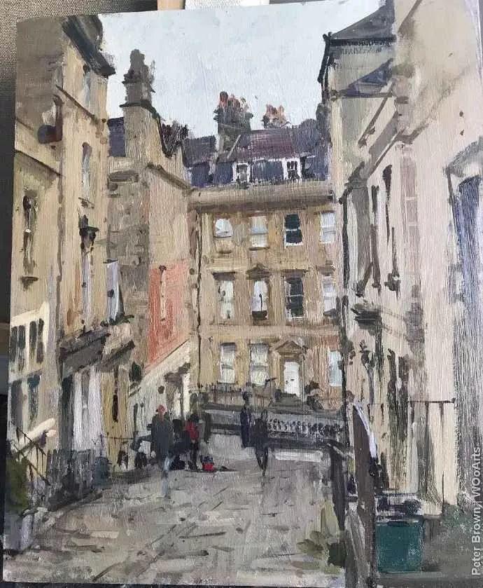Peter.Brown 油画欧洲街景插图12