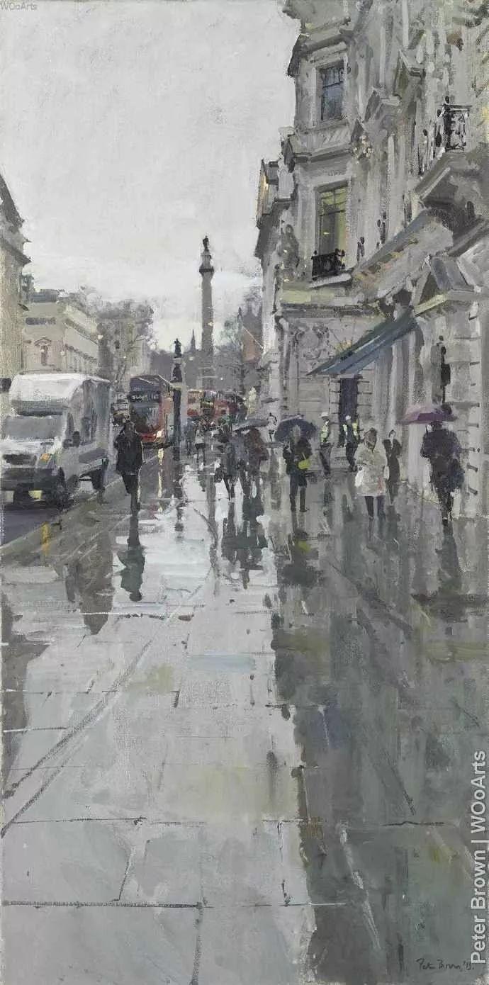 Peter.Brown 油画欧洲街景插图14