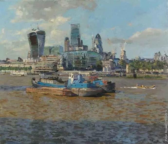 Peter.Brown 油画欧洲街景插图15