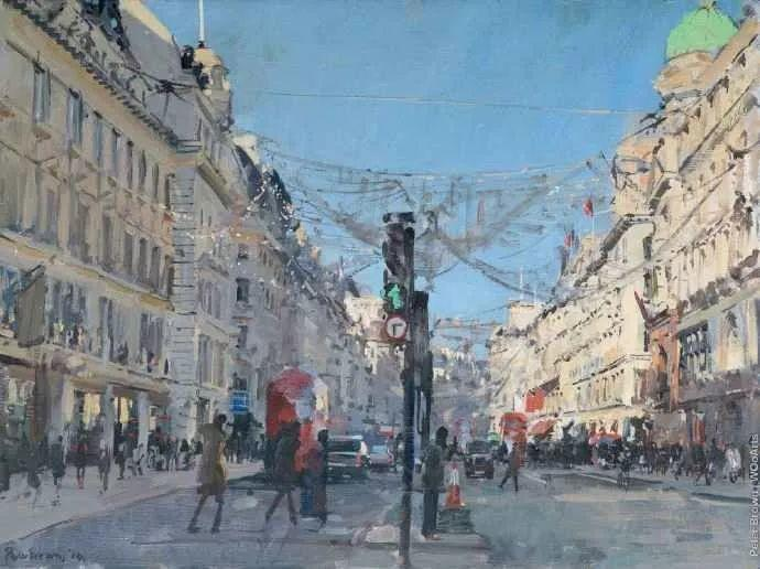 Peter.Brown 油画欧洲街景插图17