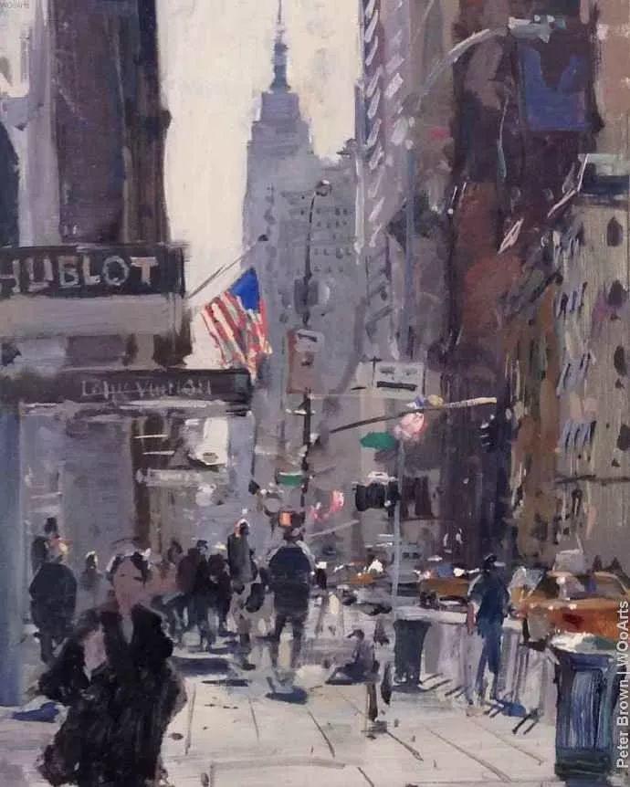 Peter.Brown 油画欧洲街景插图18