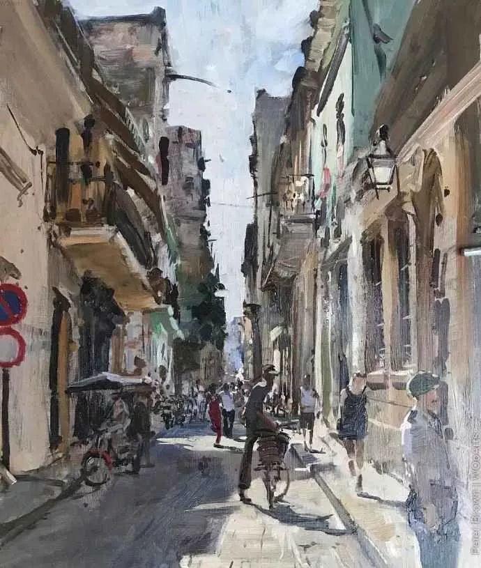 Peter.Brown 油画欧洲街景插图19