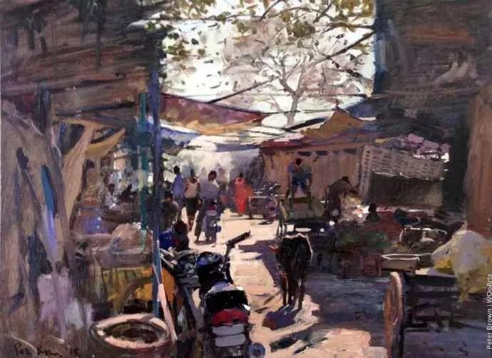 Peter.Brown 油画欧洲街景插图20
