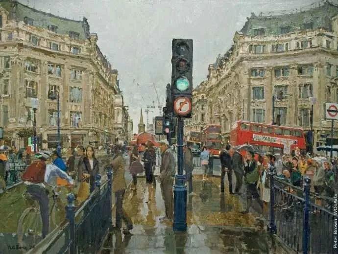 Peter.Brown 油画欧洲街景插图21