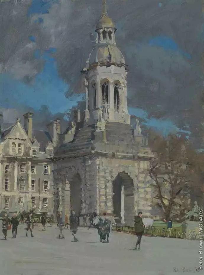 Peter.Brown 油画欧洲街景插图23