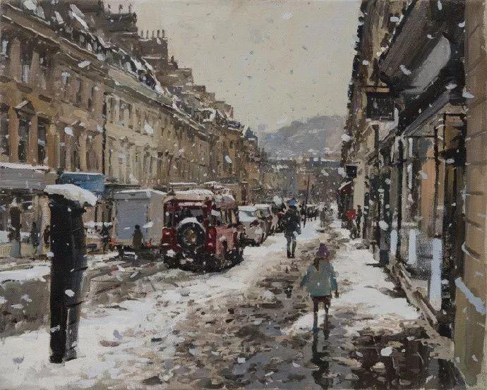 Peter.Brown 油画欧洲街景插图24