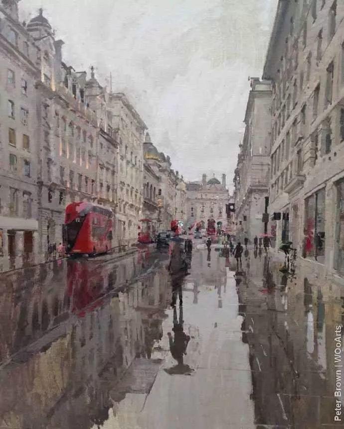 Peter.Brown 油画欧洲街景插图25
