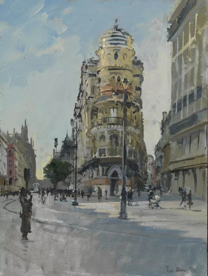 Peter.Brown 油画欧洲街景插图26
