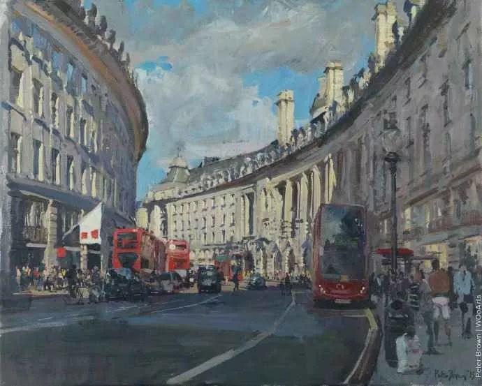 Peter.Brown 油画欧洲街景插图27