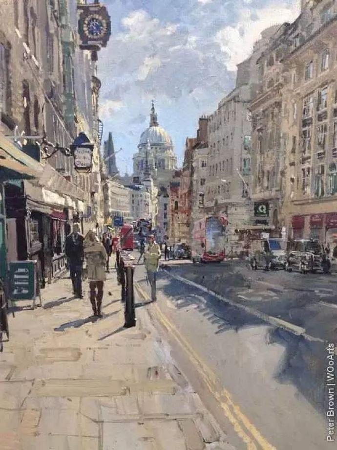 Peter.Brown 油画欧洲街景插图28