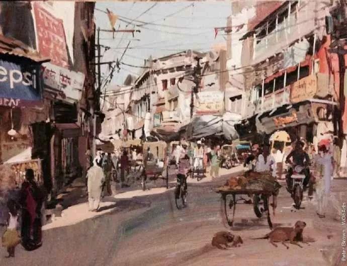Peter.Brown 油画欧洲街景插图30