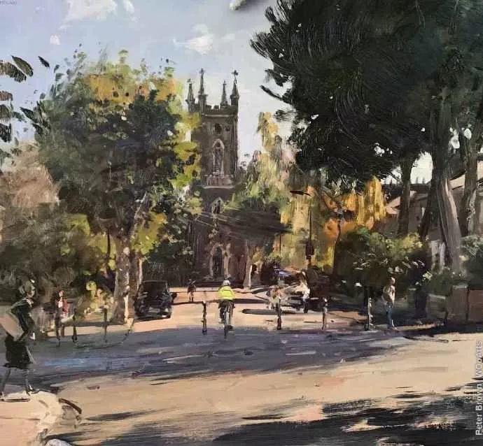 Peter.Brown 油画欧洲街景插图31