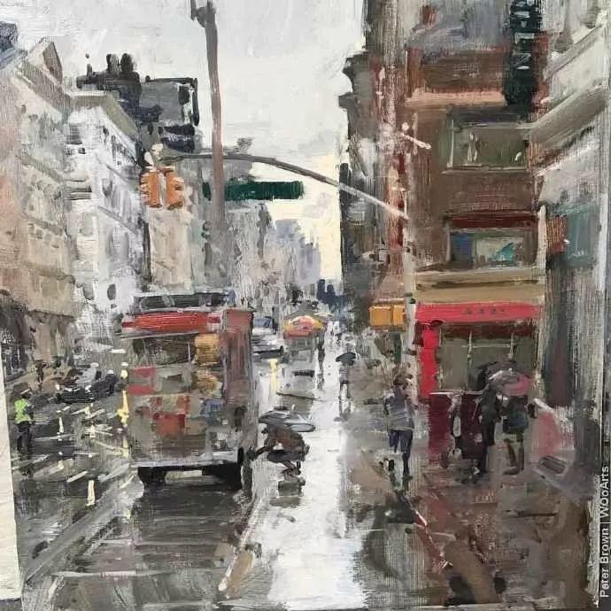 Peter.Brown 油画欧洲街景插图32