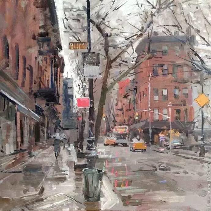 Peter.Brown 油画欧洲街景插图33