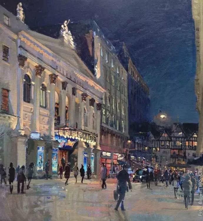Peter.Brown 油画欧洲街景插图34