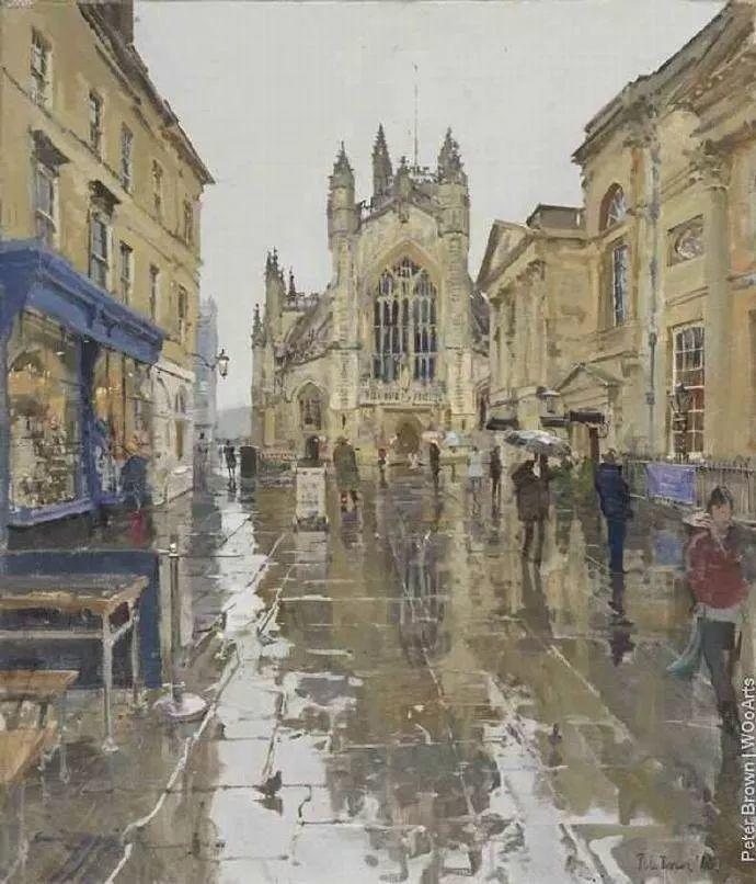 Peter.Brown 油画欧洲街景插图35