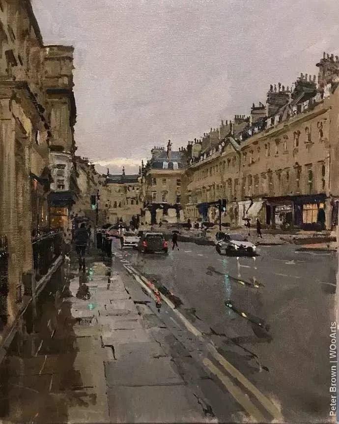 Peter.Brown 油画欧洲街景插图36
