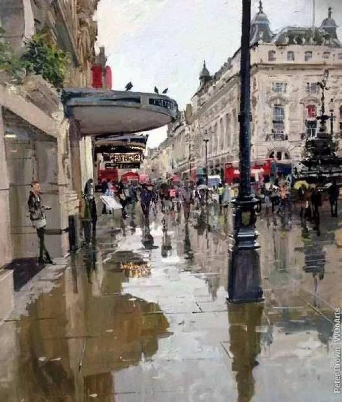 Peter.Brown 油画欧洲街景插图37
