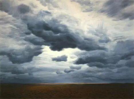 油画风景艺术,暴风雨来袭,美国画家April Gornik的风景画插图3