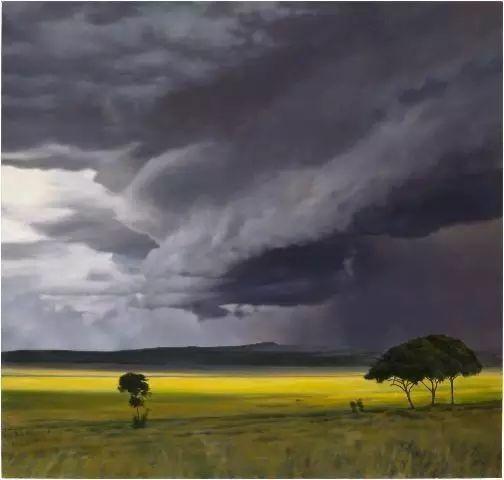 油画风景艺术,暴风雨来袭,美国画家April Gornik的风景画插图7