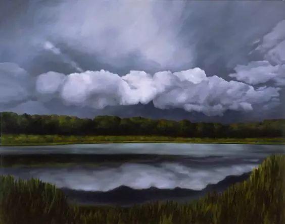 油画风景艺术,暴风雨来袭,美国画家April Gornik的风景画插图9