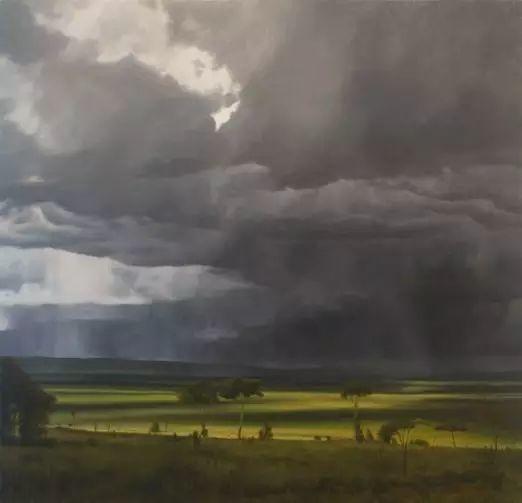 油画风景艺术,暴风雨来袭,美国画家April Gornik的风景画插图11