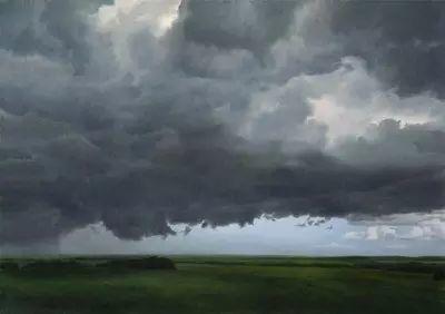 油画风景艺术,暴风雨来袭,美国画家April Gornik的风景画插图13